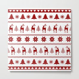 Christmas Sweater in Red Metal Print