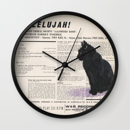 His Master's Voice - Cat Wall Clock