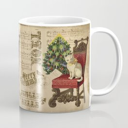 Vintage Christmas Cat Coffee Mug