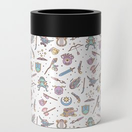 Cute Dungeons and Dragons Pattern Can Cooler
