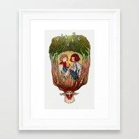 princess mononoke Framed Art Prints featuring Mononoke by Niklisson