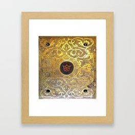 Golden Swirls Book Framed Art Print