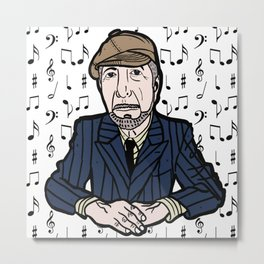 Leonard Cohen Metal Print