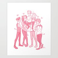 valentines Art Prints featuring Valentines by pygmy