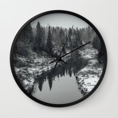 The first snow Wall Clock