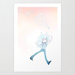 Bubblylove Art Print
