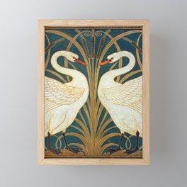 Walter Crane Swan, Rush And Iris Framed Mini Art Print
