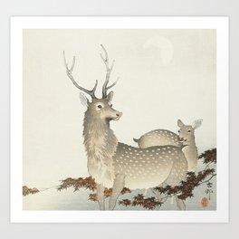 Couple of deers (1900 - 1930) by Ohara Koson (1877-1945) Art Print