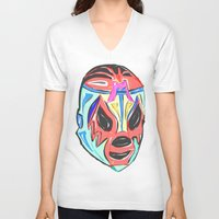mexico V-neck T-shirts featuring MEXICO by MANDIATO ART & T-SHIRTS