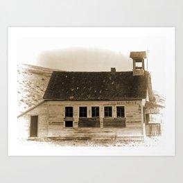 Old School House Art Print