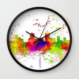 Anchorage, Alaska Skyline - Line & Ink 3 Wall Clock