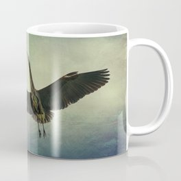 Great Blue Heron in the Night Sky Coffee Mug