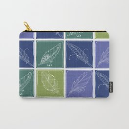 Feather Fabric Carry-All Pouch