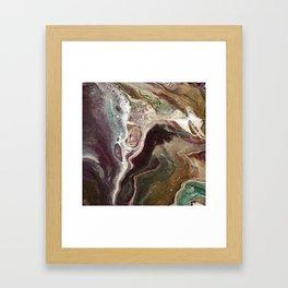 Autumn Agate Framed Art Print