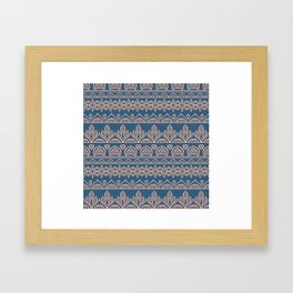 Stripes Mandala 12 Framed Art Print