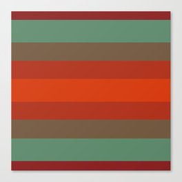 Rust Turquoise Spice - Color Therapy Canvas Print