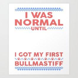 Bullmastiff Ugly Christmas Sweaters Art Print