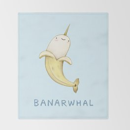 Banarwhal Throw Blanket