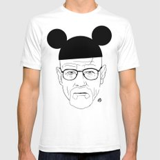 Walt Disney White SMALL Mens Fitted Tee