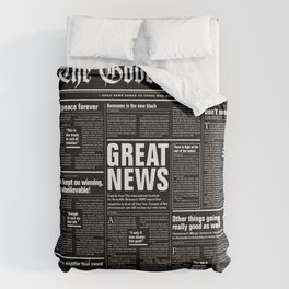 The Good Times Vol. 1, No. 1 REVERSED / Newspaper with only good news Comforters