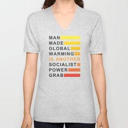 Socialist Power Grab Unisex V-Neck
