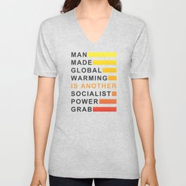 Socialist Power Grab Unisex V-Neck