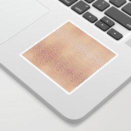 Gold Pink Leopard Sticker