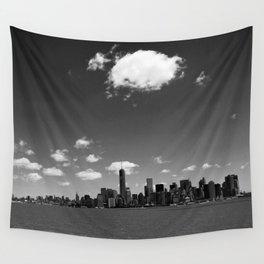 NYC Skyline B&W Wall Tapestry