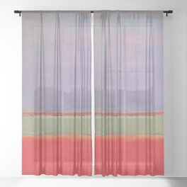 1951 No 6 Violet Green and Red by Mark Rothko HD Sheer Curtain