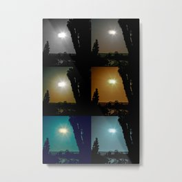 Ecliptical sun over Hollywood, CA Metal Print