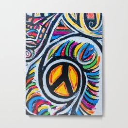Graffiti Peace Metal Print