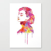 audrey Canvas Prints featuring Audrey by Fimbis