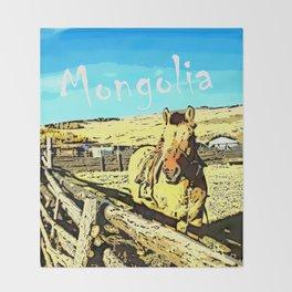 Mongolia Horse Treks (at Mountain Rubia) Throw Blanket