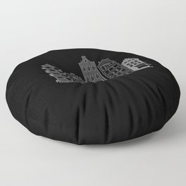 Dutch colonial houses Amsterdam street Holland Floor Pillow