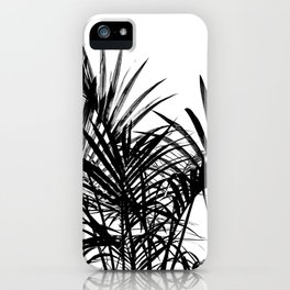 Little palm tree in black iPhone Case