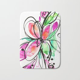 Ecstasy Bloom No. 1 by Kathy Morton Stanion Bath Mat