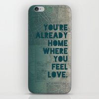 home sweet home iPhone & iPod Skins featuring Home by Leah Flores