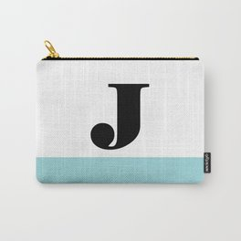 Monogram Letter J-Pantone-Limpet Shell Carry-All Pouch