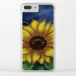 Dramatic Sunflower DP141118a Clear iPhone Case
