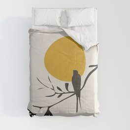 Bird and the Setting Sun Comforters