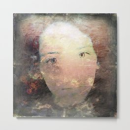 Catalina's Portrait / Retrato artístico de Catalina Metal Print