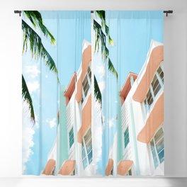 Miami Fresh Summer Day Blackout Curtain