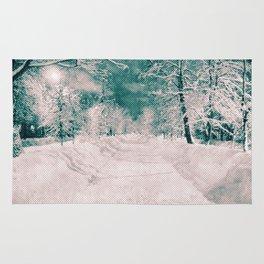 Winter wonderland. Halftone effect Rug