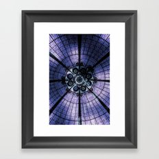 Purple Stained Glass Framed Art Print