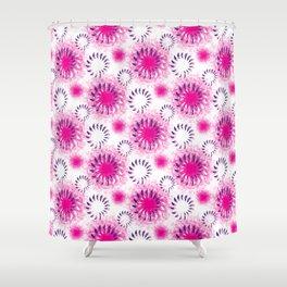 Fuchsia Twist Shower Curtain