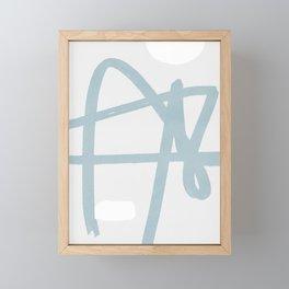 Soft line art Framed Mini Art Print