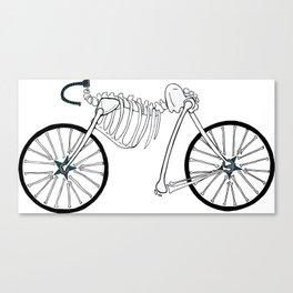 Skeleton Bike Canvas Print