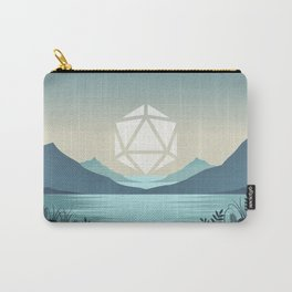 Sunrise Between Mountains Lake D20 Dice Sun Tabletop RPG Landscape Carry-All Pouch