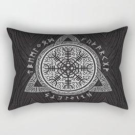 The helm of awe Rectangular Pillow