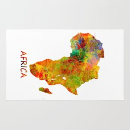Africa map colored Rug